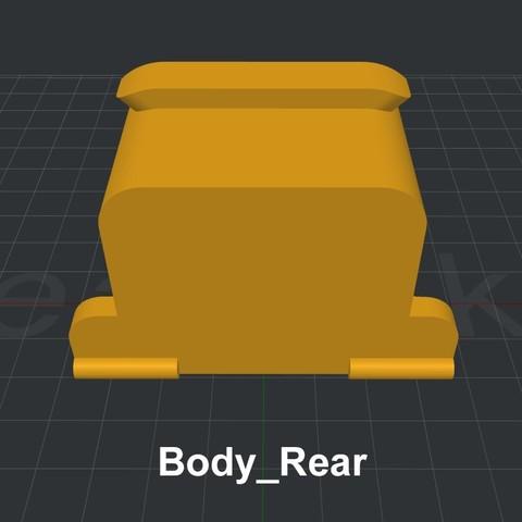 Body_Rear.jpg Download STL file LiL FRONT LOADER • 3D printable template, biglildesign