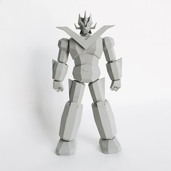 objet 3d Faible Poly Grand Mazinger, biglildesign