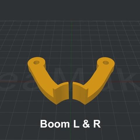Boom.jpg Download STL file LiL FRONT LOADER • 3D printable template, biglildesign