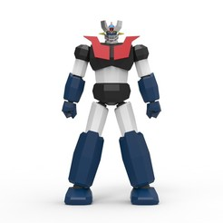 01_Edit.jpg Download STL file Low Poly Mazinger Z V2 • Design to 3D print, biglildesign