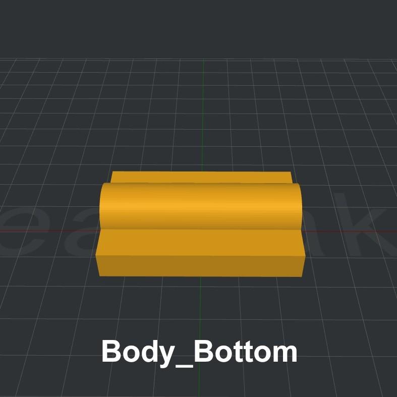 Body_Bottom.jpg Download STL file LiL FRONT LOADER • 3D printable template, biglildesign