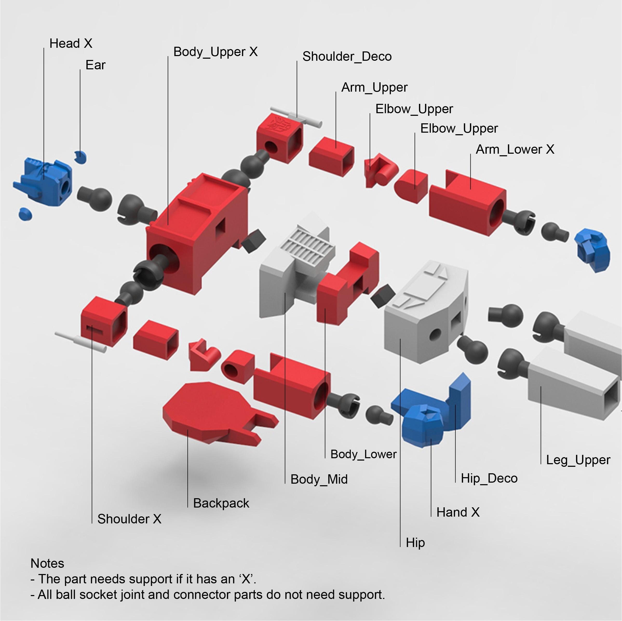 OptimusPrime_22a_Edit.jpg Download STL file Low Poly Optimus Prime • Model to 3D print, biglildesign