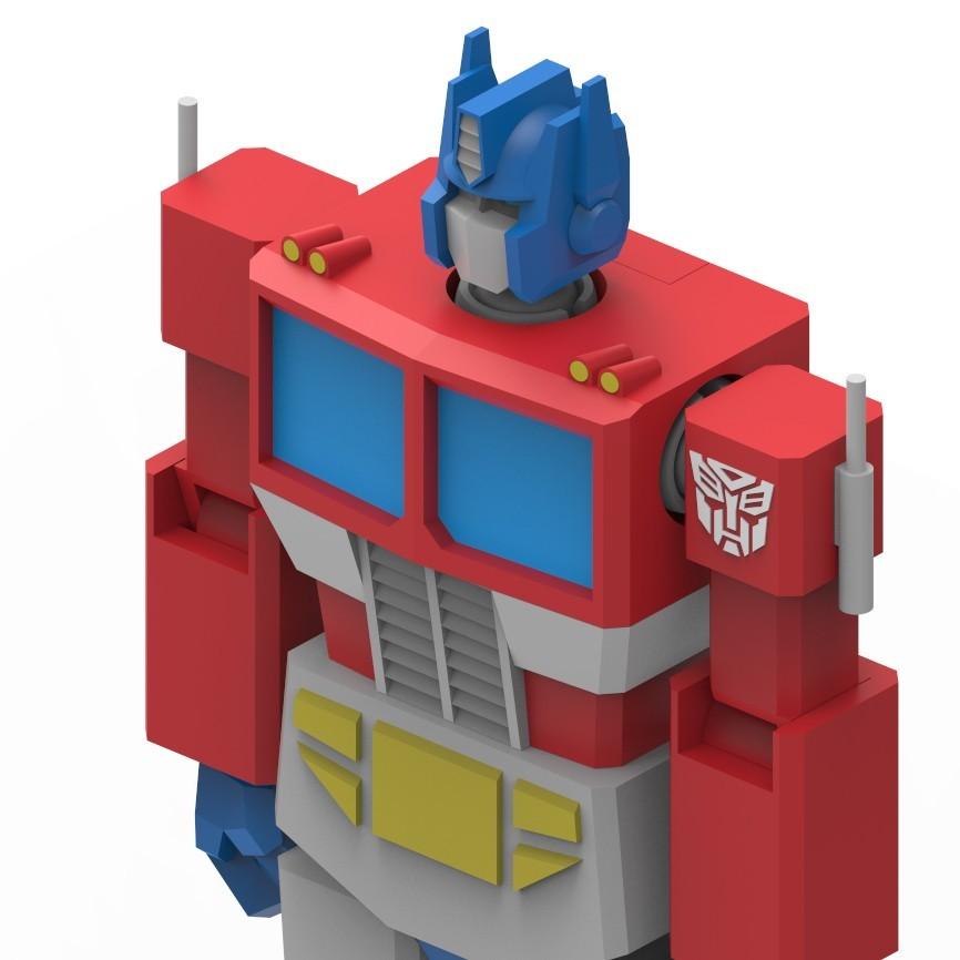 OptimusPrime_14.jpg Download STL file Low Poly Optimus Prime • Model to 3D print, biglildesign