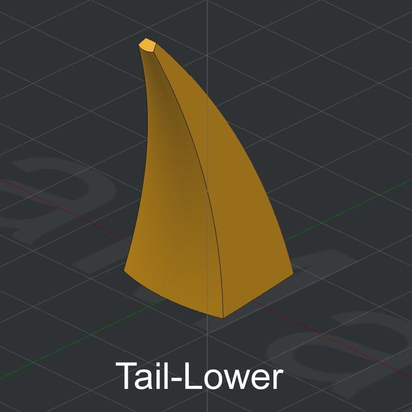 Tail-Lower.jpg Download STL file Grimlock • Model to 3D print, biglildesign