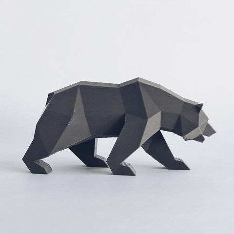 CG 4.jpg Descargar archivo STL Low Poly California Grizzly y Nueva República de California • Modelo para la impresora 3D, biglildesign