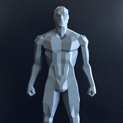 Image4.jpg Download STL file Low Poly Figure v2 • 3D print model, biglildesign