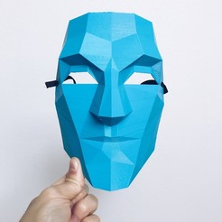image1.jpeg Download STL file Low Poly Masks • 3D printer model, biglildesign