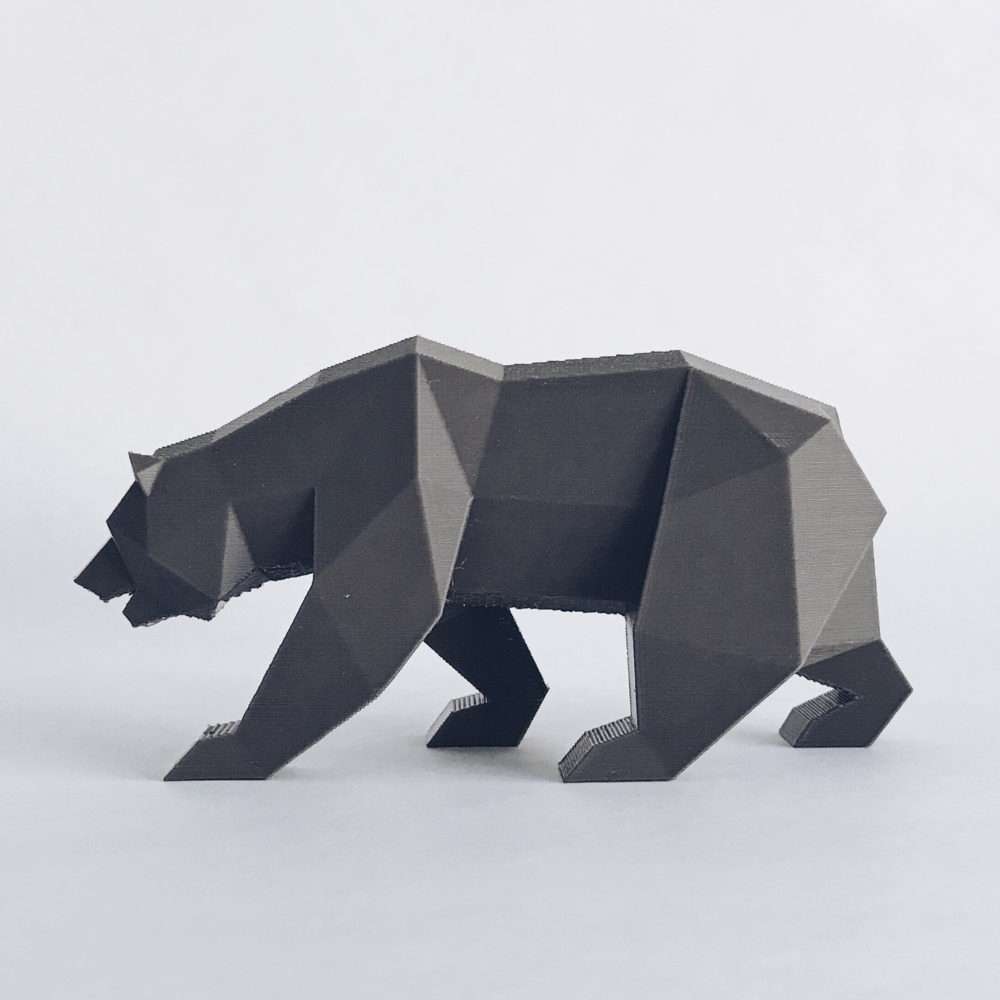 CG 3.jpg Descargar archivo STL Low Poly California Grizzly y Nueva República de California • Modelo para la impresora 3D, biglildesign