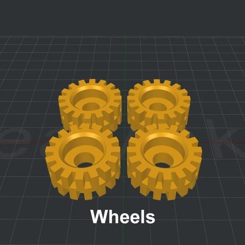 Wheels.jpg Download STL file LiL FRONT LOADER • 3D printable template, biglildesign