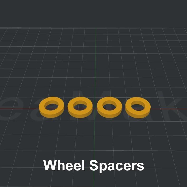 Wheel Spacers.jpg Download STL file LiL FRONT LOADER • 3D printable template, biglildesign
