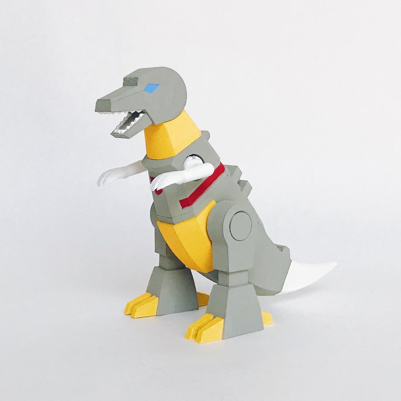 Front Pers 01_100dpi.jpg Download STL file Grimlock • Model to 3D print, biglildesign