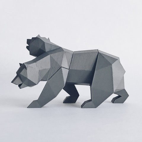 NCR 1.jpg Descargar archivo STL Low Poly California Grizzly y Nueva República de California • Modelo para la impresora 3D, biglildesign