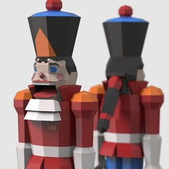 Nutcracker - Close Up.jpg Download STL file Low Poly Nutcracker Prince • 3D printable template, biglildesign
