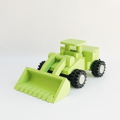 LiL FRONT LOADER_01.JPG Download STL file LiL FRONT LOADER • 3D printable template, biglildesign
