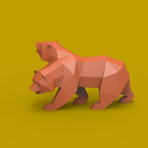NCR.jpg Descargar archivo STL Low Poly California Grizzly y Nueva República de California • Modelo para la impresora 3D, biglildesign