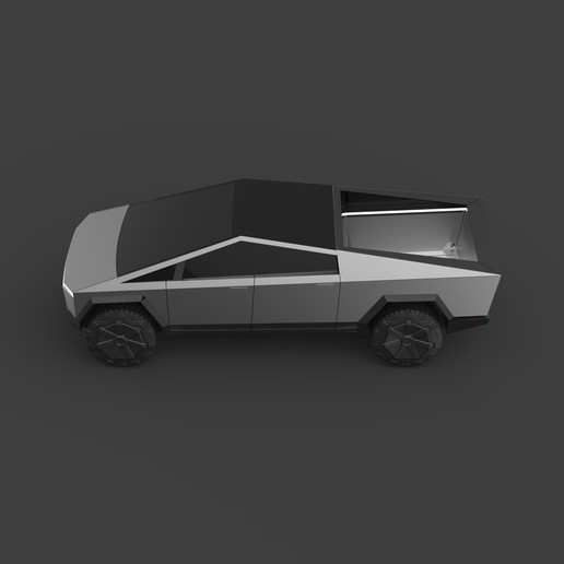 Download free 3D printing templates Low Poly Cybertruck, biglildesign