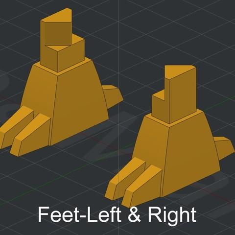 Feet-Left & Right.jpg Download STL file Grimlock • Model to 3D print, biglildesign