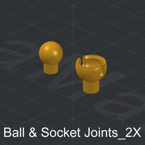 Ball & Socket Joints_2X.jpg Download STL file Grimlock • Model to 3D print, biglildesign