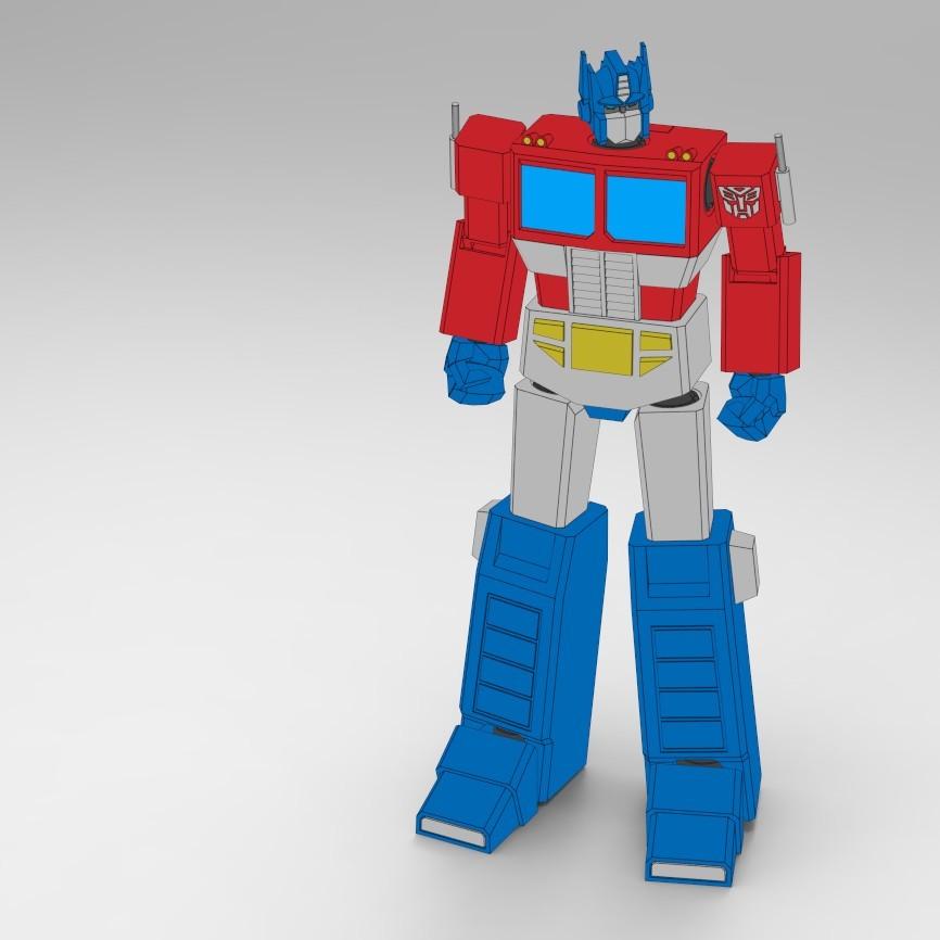 OptimusPrime_19.jpg Download STL file Low Poly Optimus Prime • Model to 3D print, biglildesign