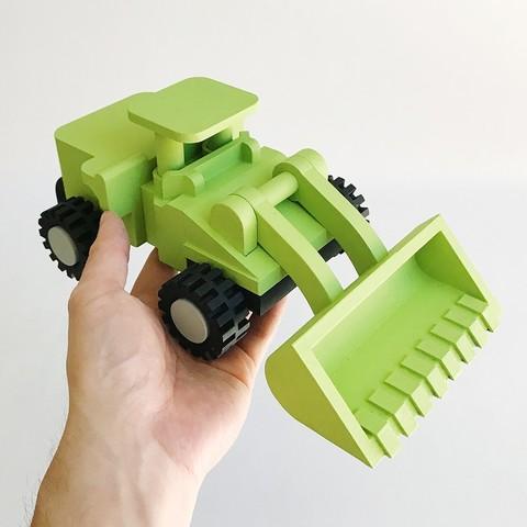 LiL FRONT LOADER_02.JPG Download STL file LiL FRONT LOADER • 3D printable template, biglildesign