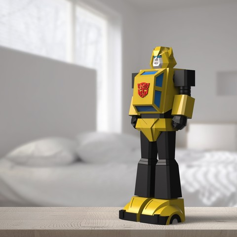 Diseños 3D Bumblebee Low Poly, biglildesign