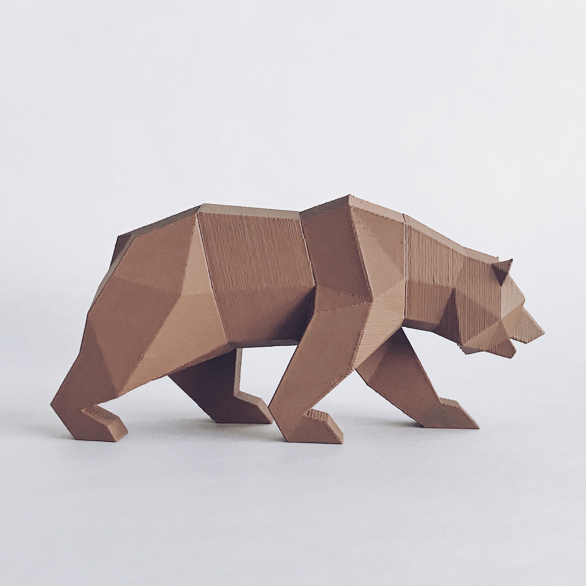 CG 2.jpg Descargar archivo STL Low Poly California Grizzly y Nueva República de California • Modelo para la impresora 3D, biglildesign