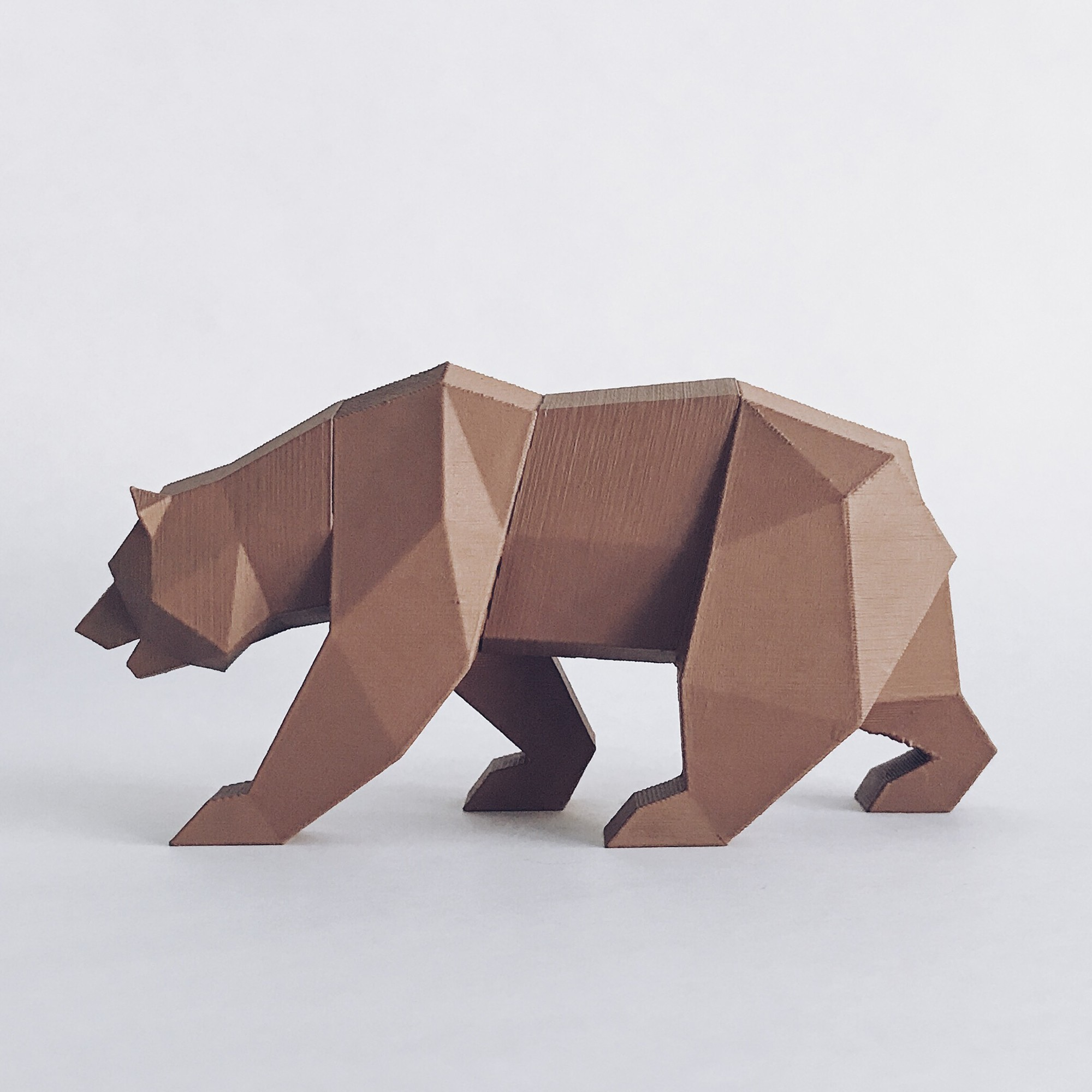 CG 1.jpg Descargar archivo STL Low Poly California Grizzly y Nueva República de California • Modelo para la impresora 3D, biglildesign