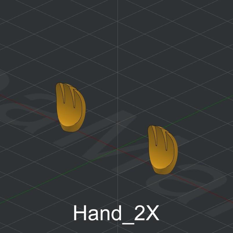 Hand_2X.jpg Download STL file Grimlock • Model to 3D print, biglildesign