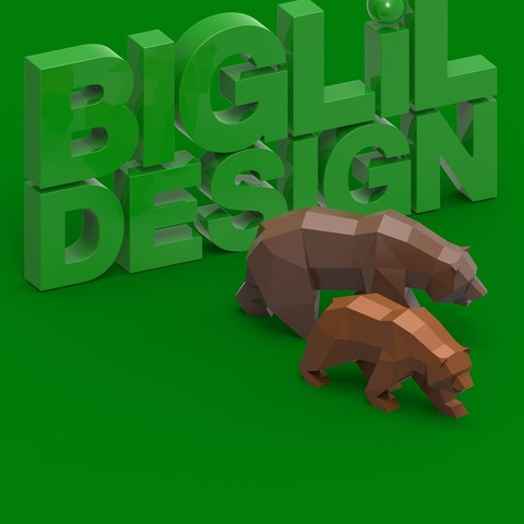 BLD_Edit.jpg Descargar archivo STL Low Poly California Grizzly y Nueva República de California • Modelo para la impresora 3D, biglildesign