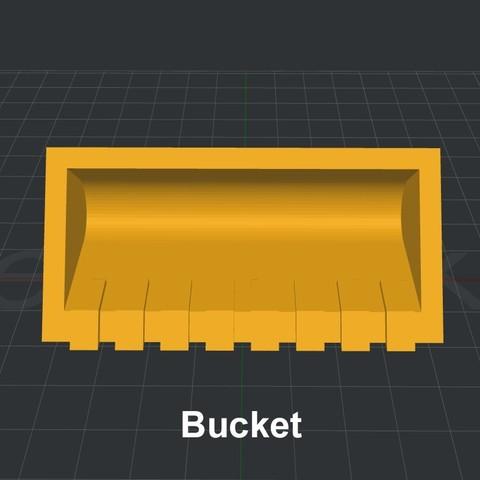 Bucket.jpg Download STL file LiL FRONT LOADER • 3D printable template, biglildesign