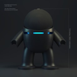 Robot Holder_Amazon Echo_72dpi.jpg Download STL file Bot Plus One - Amazon Echo (4th Gen) Version • 3D printable object, biglildesign