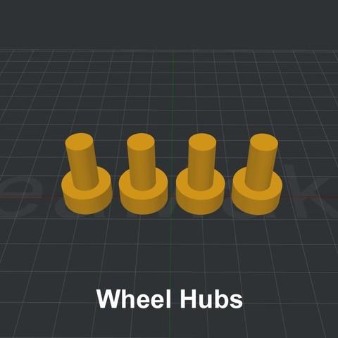 Wheel Hubs.jpg Download STL file LiL FRONT LOADER • 3D printable template, biglildesign