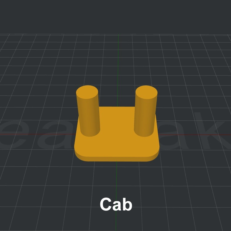 Cab.jpg Download STL file LiL FRONT LOADER • 3D printable template, biglildesign