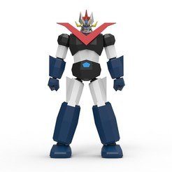 Low Poly Great Mazinger 3D printer file, biglildesign