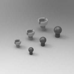 Screenshot2.jpg Download STL file Ball & Socket Joints • 3D printer model, biglildesign