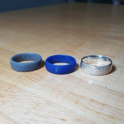 Download 3D printing files Fingerprint ring Wedding ring With Love, leotuorto