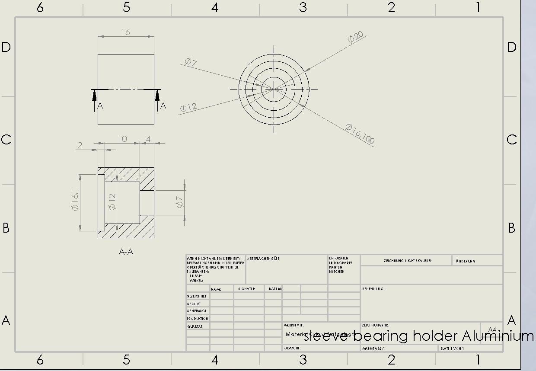 sleeve bearing holder Aluminium.jpg Download STL file Water Jet propulsion unit • 3D print design, toto44
