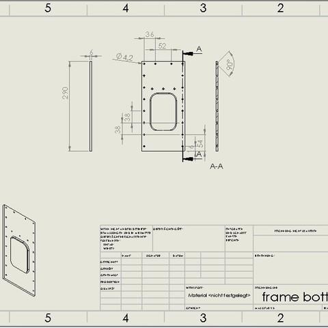 frame bottom.jpg Download STL file Water Jet propulsion unit • 3D print design, toto44