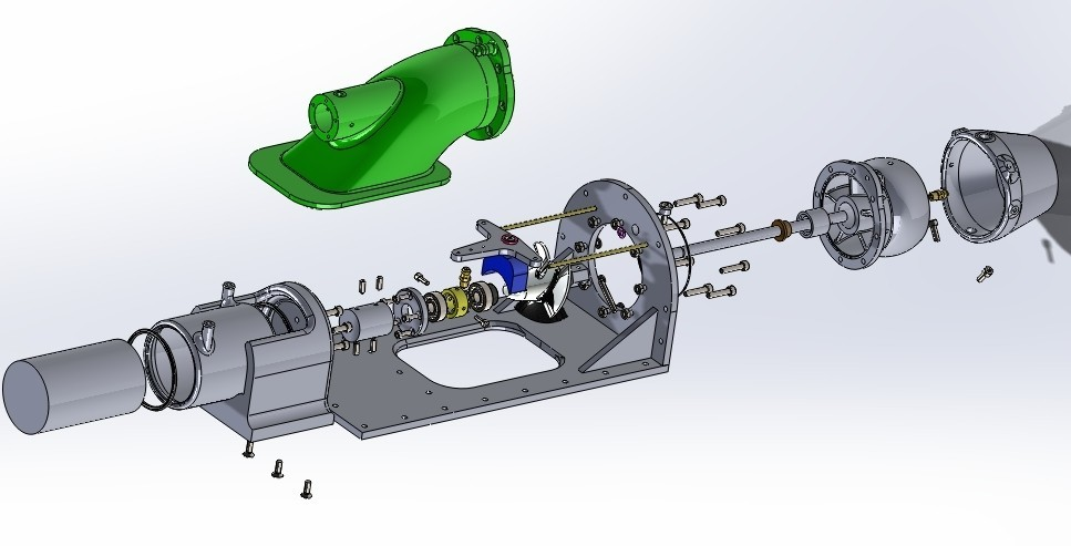 explo part new1.jpg Download free STL file upgrade parts for Water Jet propulsion unit • 3D printer design, toto44