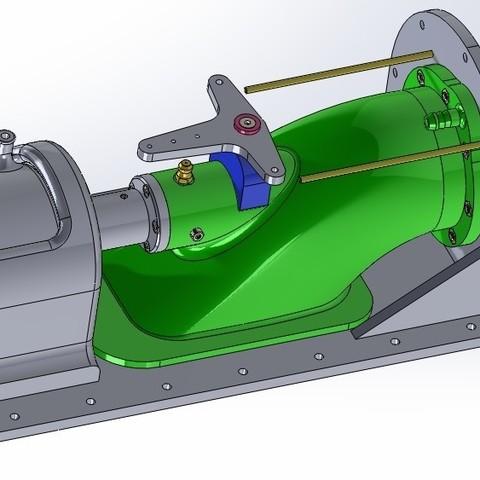assembly new.jpg Download STL file Water Jet propulsion unit • 3D print design, toto44