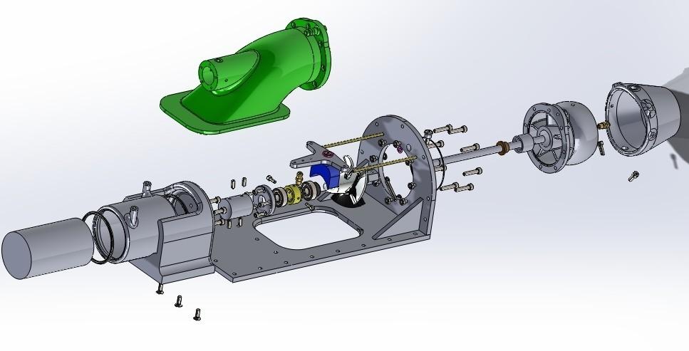 explo part new1.jpg Download STL file Water Jet propulsion unit • 3D print design, toto44