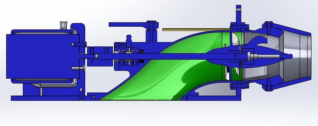 assembly new section.jpg Download STL file Water Jet propulsion unit • 3D print design, toto44