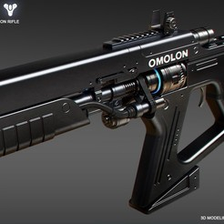 3D printer files Omolon THESAN FR4 Legendary Fusion Rifle, 3dpicasso