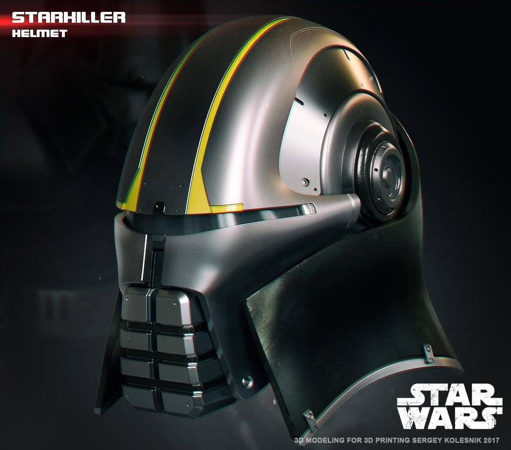 2.jpg Download STL file  Starkiller Helmet • Model to 3D print, 3dpicasso