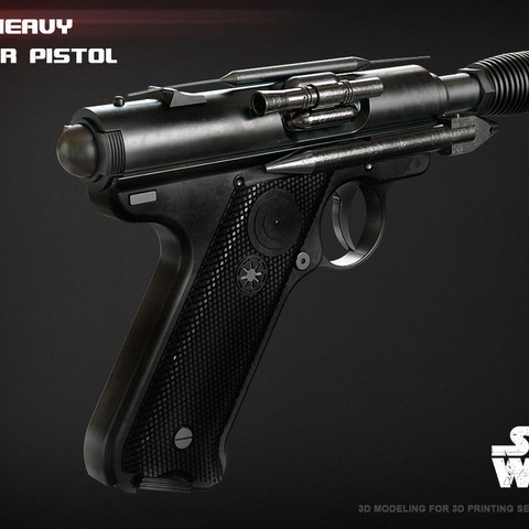 Download 3D printing templates The DT-12 heavy blaster pistol, 3dpicasso