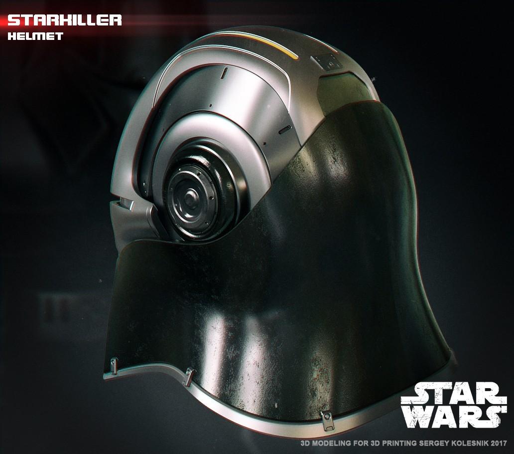 3.jpg Download STL file  Starkiller Helmet • Model to 3D print, 3dpicasso