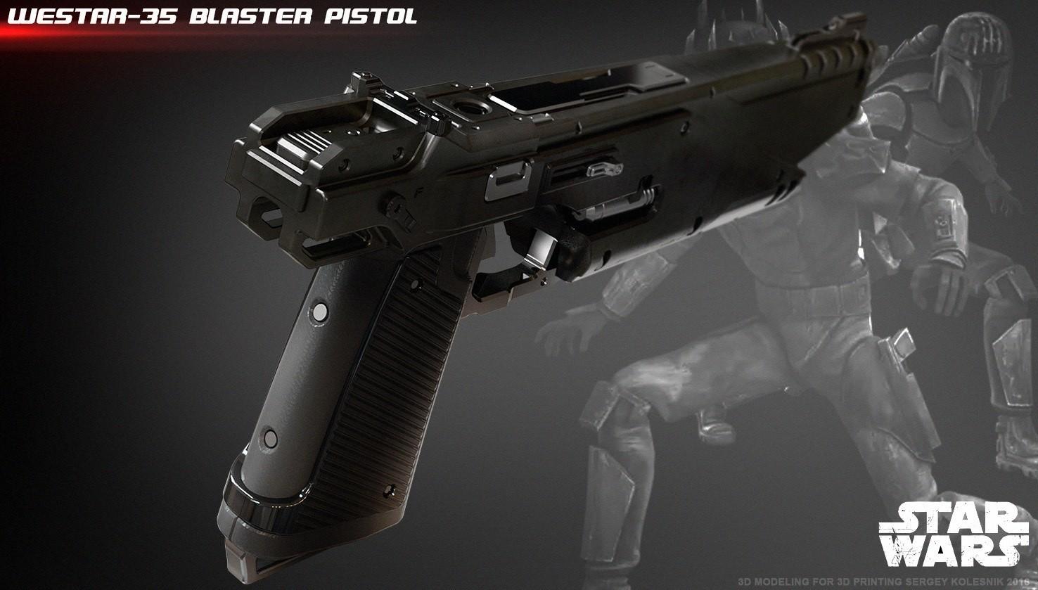 3.jpg Download STL file WESTAR 35 blaster pistol  • 3D printable object, 3dpicasso
