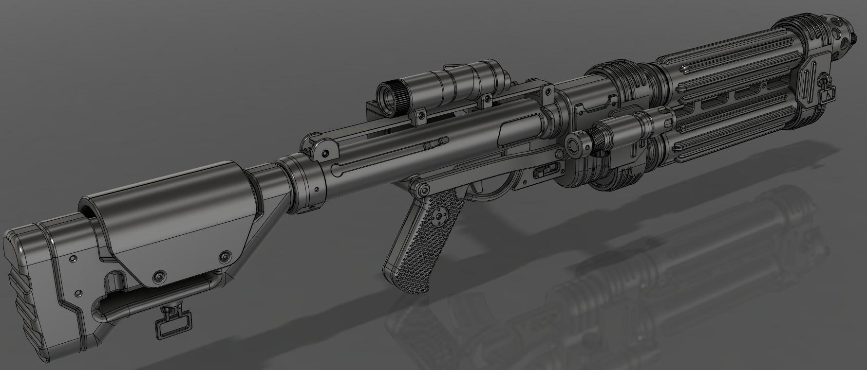 1.jpg Download STL file E-22 Blaster Rifle  • 3D print design, 3dpicasso