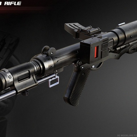 ArtStation - F-11D blaster rifle, Alex Kolodiouk