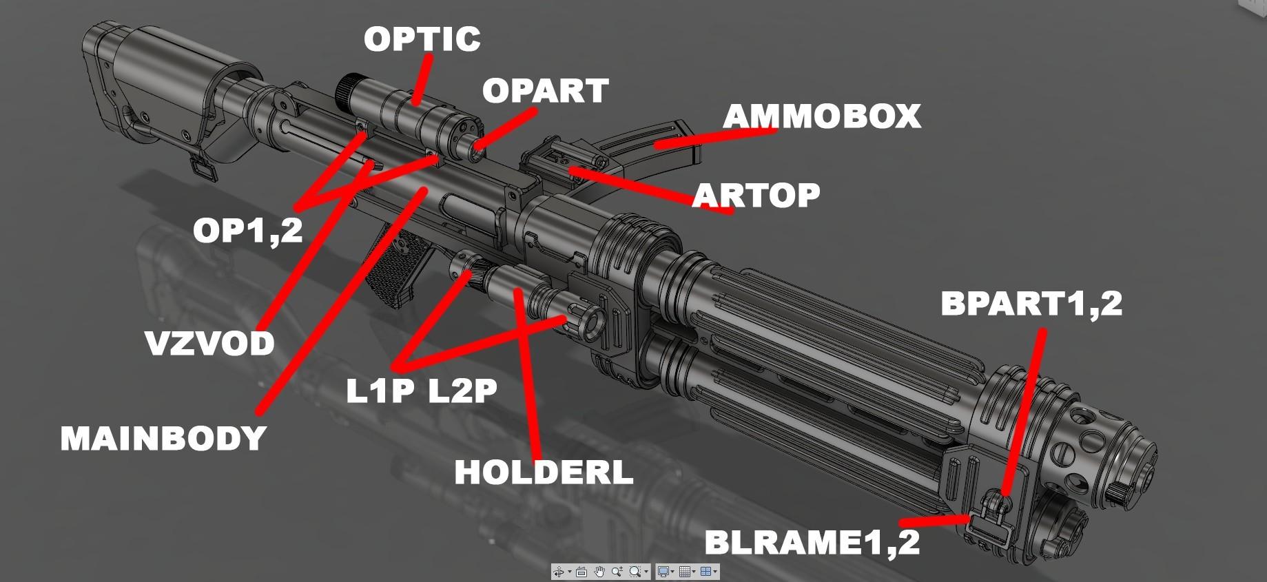 shm2.jpg Download STL file E-22 Blaster Rifle  • 3D print design, 3dpicasso